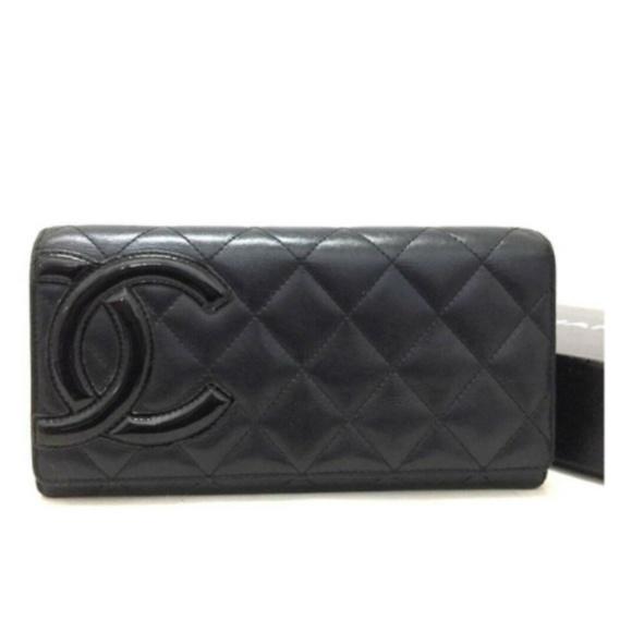 d20e21df879 Chanel Bags | 100 Auth Combon Line Lambskin Bifold Y48 | Poshmark